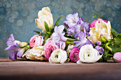 Bunch of spring flowers Royalty Free Stock Photography