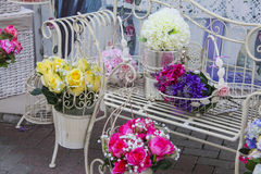 Bunch of spring flowers Stock Photos