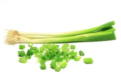 Bunch of spring onions (Allium fistulosum) Stock Images