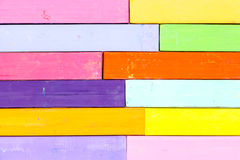 Bunch of square colorful pastel chalks closeup Stock Photos