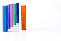 Bunch of standing square colorful pastel chalks Royalty Free Stock Image
