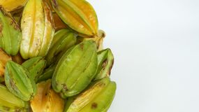 Bunch of Star Fruit in Natural Conditions Stock Photos