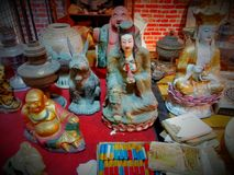 Collectible asan statues 2. A bunch of statues and some art stuff from asian culture, unique and ethnic for collectible Stock Photo