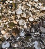 Bunch of steel and alluminium utensils  Stock Image