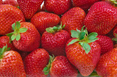 Bunch of Strawberries. Close up of a group of fresh, succulent strawberries Stock Photos