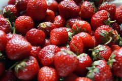 A bunch of strawberries, close-up stock images