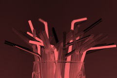 Bunch of straws Stock Image