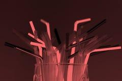 Bunch of straws Stock Image