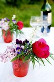A bunch of summer flowers for picnic royalty free stock image