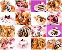 Bunch of sweet food Stock Photos