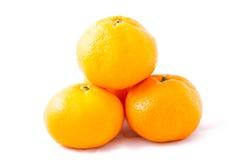 Bunch of Tangerine (Mandarin) Tower on White Background Stock Image