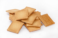 A bunch of tea biscuits on a white background Stock Images
