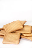 A bunch of tea biscuits on a white background Stock Photography