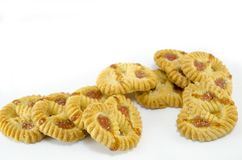 Bunch of tea cookies isolated Royalty Free Stock Photography