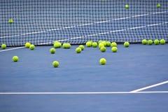 A bunch of tennis balls Royalty Free Stock Photos
