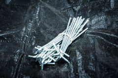 Bunch of tent pegs Royalty Free Stock Images