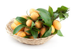 Bunch of Thai tropical fruit  in a basket Stock Photos