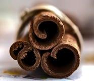 Bunch of three cinnamon sticks Stock Photography