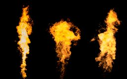 Isolated flame collection Stock Images
