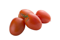Bunch of tomatoes. On white background Stock Photography