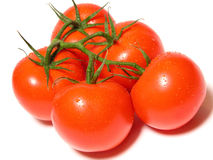 Bunch of tomatoes. – on white Stock Image