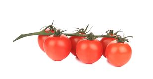 Bunch of tomatoes-cherry. Royalty Free Stock Photos