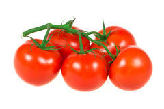 Bunch of tomatoes isolated Royalty Free Stock Photography