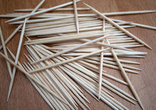 Bunch of toothpick mixed in various forms royalty free stock image