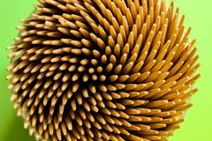 A bunch of toothpicks from top view Stock Photography