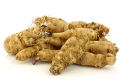 Bunch of topinambur roots (helianthus tuberosus) Royalty Free Stock Images