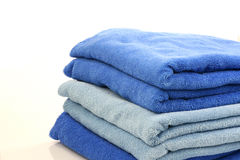 A bunch of towels. On a white background Royalty Free Stock Images