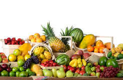 Bunch of tropical fruits Stock Photo