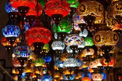 turkish lamps in gift shops Royalty Free Stock Images