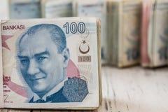 Bunch of Turkish Lira Stock Photography