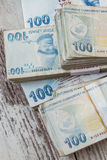Bunch of Turkish Lira Stock Images
