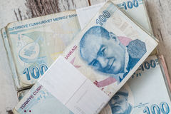 Bunch of Turkish Lira Stock Image