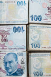 Bunch of Turkish Lira Stock Photography