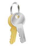 A bunch of two metal keys Stock Images