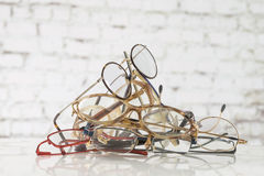 Bunch of unneeded glasses  to recycle  to Third World Stock Photography
