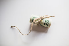 A bunch of US dollars. On a white background Stock Images