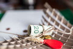 A bunch of US dollars. On a white background Royalty Free Stock Images