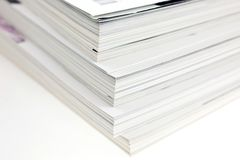 Bunch of used magazines Royalty Free Stock Photos