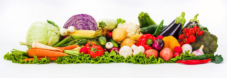 Bunch of various vegetables Stock Images