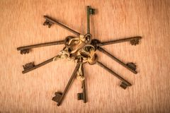 Bunch of old keys Stock Image