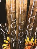 Wooden welcome signs Royalty Free Stock Photos