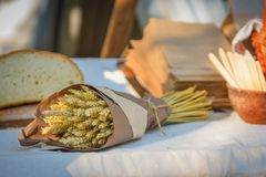 Bunch of wheat stock photos
