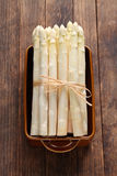 Bunch of white asparagus Stock Images