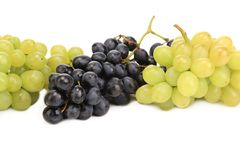 Bunch of white and black grapes. Stock Photo