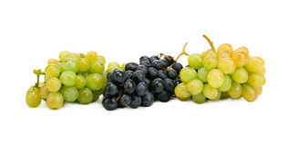 Bunch of white and black grapes. Stock Photos