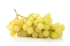 Bunch of white grapes. Isolated on white Stock Photos